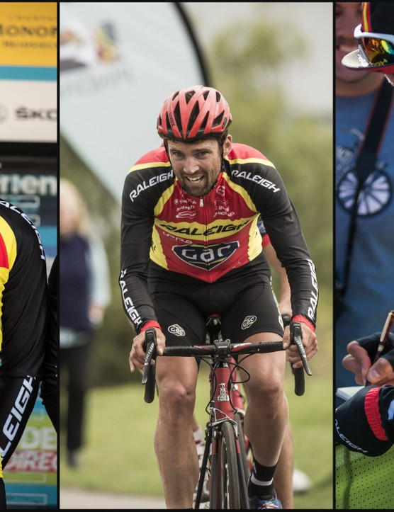 Yanto Barker helped Team Raleigh to 11th place overall in the Tour of Britain