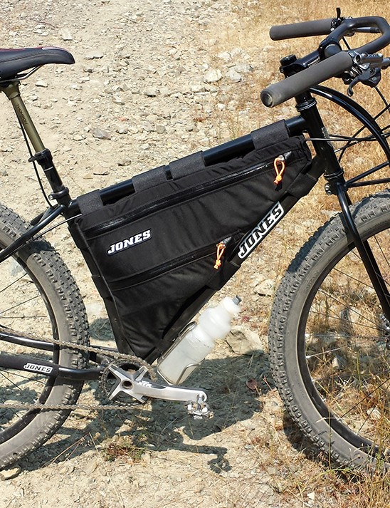 Those narrow steel tubes make for a huge frame pack capacity