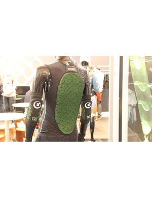 UK-based company Amplifi got its start in the snowsports industry and is quickly making inroads with soft armour for mountain biking. Shown here is the company's MKII jacket and elbow pads