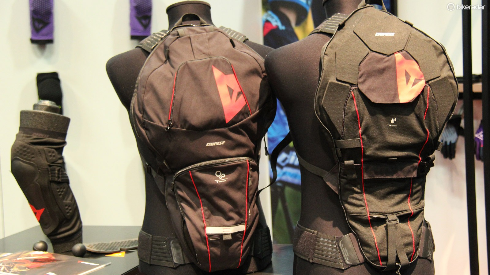 The US$199 Dainese Pro Pack features a two-peice design that allows the wearer to decide how much storage they need