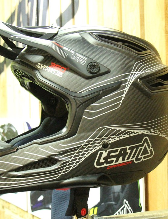 Neck protection specialist Leatt is branching out into helmets, packs and pads. Shown here is the US$499 DBX Carbon. There will also be a US$399 version without the carbon shell