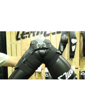 Despite advances in soft, reactive body armour, Leatt continues to develop better hardshell options, such as these knee/shin pads