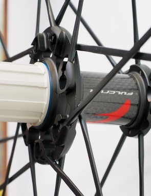 Front and rear hubs get carbon fiber center sleeves