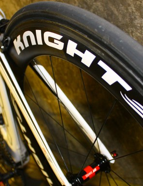 The Knight 65 wheels are brand new from Oregon's Knight Composites