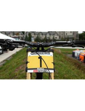 This is arguably the toughest number plate to earn on the UCI World Cup downhill circuit and Manon Carpenter (Madison Saracen) will get to use it again next season