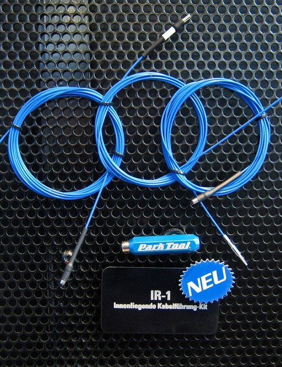 Fishing wires through frames can be an arduous process. Park Tool is looking to make the job easier with the IR-1 internal routing kit