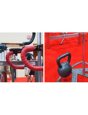 How strong are K-Edge's machined aluminium computer mounts? The company boldly hung a 30lb kettlebell from one, with no noticeable deformation