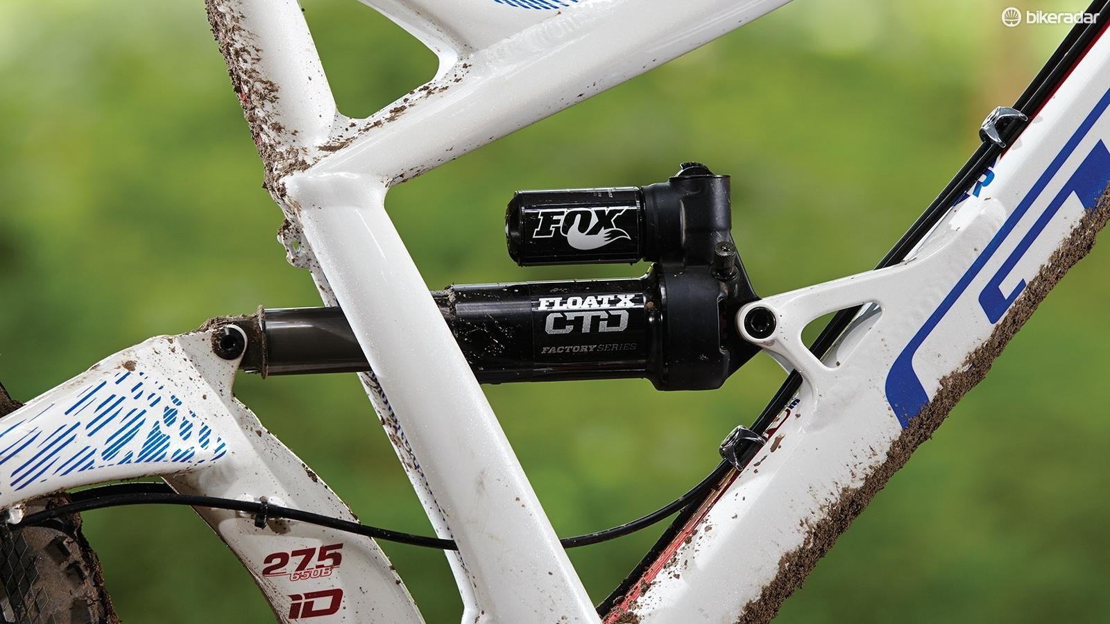 The Fox Float X shock takes all but the biggest square-edged hits in its stride