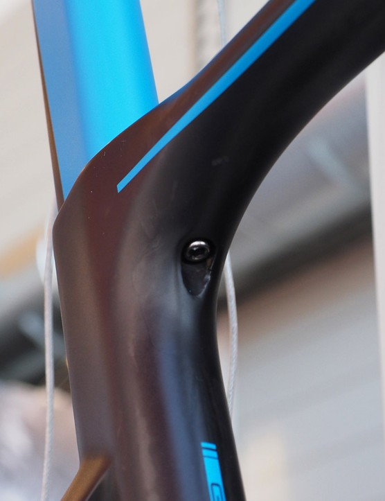 The seatpost binder post is accessed from below on Storck's new Aerfast aero road bike