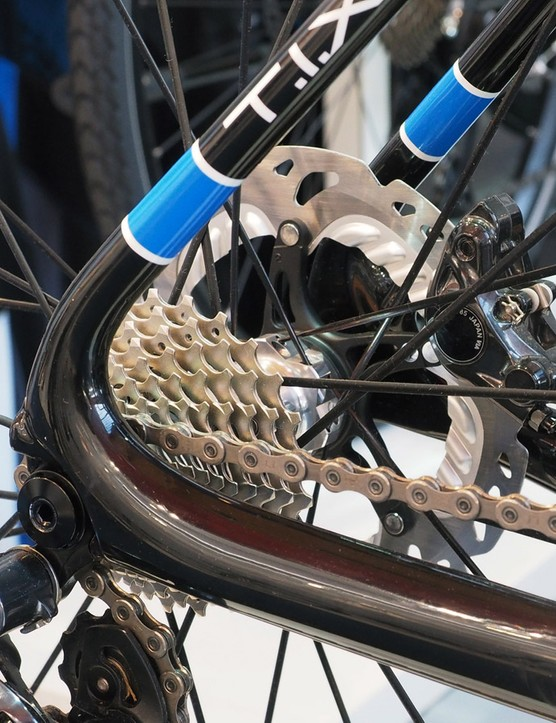 The tubular construction through the chain stay and seat stay junction should help stop the rear end wagging about excessively