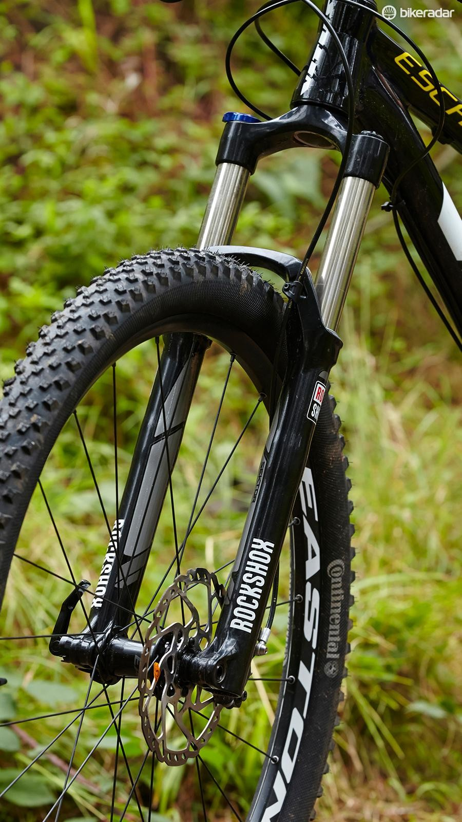 The RockShox Sektor fork in 140mm 29er spec is too flexy to perform well when things get rough