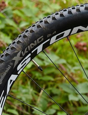 The Escarpe's easy-rolling big wheels make light work of most trails