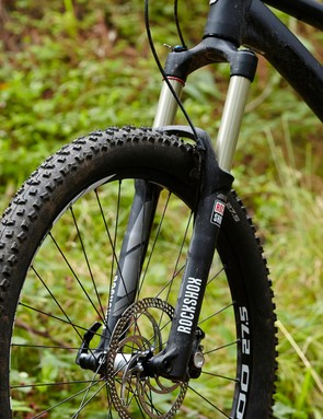 The Rose's 650b wheels and 150mm Sektor fork are stiffer than those on big-wheeled rivals with less travel