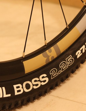 The rims used on each of the mountain bikes are 23mm wide but have a depth of 30mm