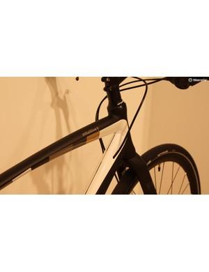 All of the Gamma bikes share a classy black/white/gold finish