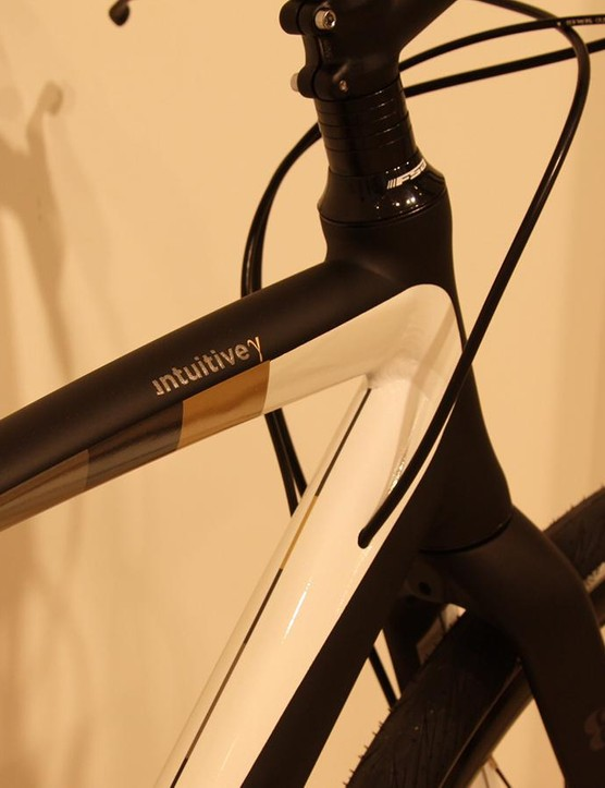 All of the Gamma bikes share a classy black/white/gold finish