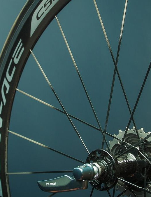 Shimano's Dura-Ace C50 was optimized for use with 700cx25mm clinchers