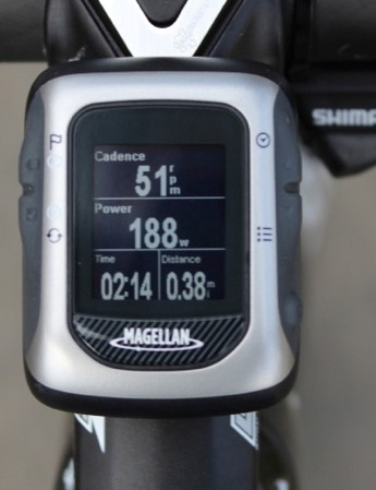 The Magellan Switch Up GPS computer works well enough, but I'd recommend a Garmin