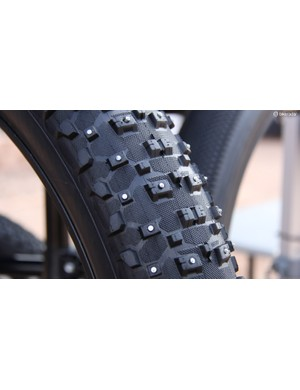 Vee Rubber now has a spiked version of the 26x4.8in Snowshow XL