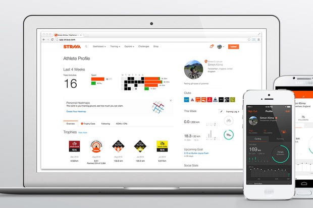 Strava's Weekly Goals function can now be accessed on mobile