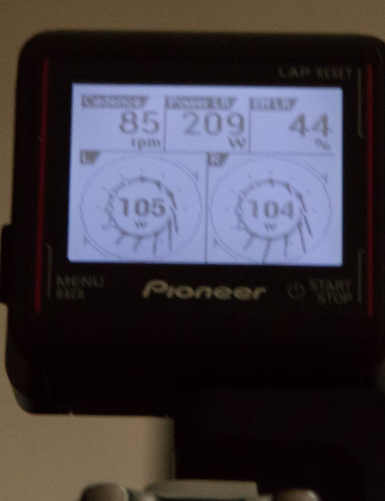 When linked to the Pioneer Power Meter, there's a huge amount of data provided
