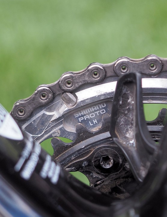 Sorry, folks. Shimano reserves the prototype bits solely for the special racers