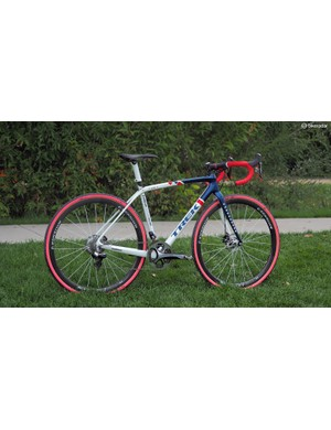 Katie Compton (Trek Factory Racing) also has a stable of disc-equipped Trek Boone 9s, these with custom stars-and-stripes paint jobs