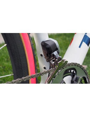 These bolts secured the internally mounted Shimano Dura-Ace Di2 battery
