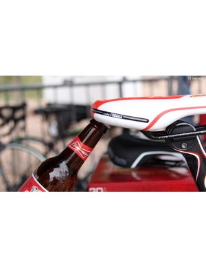 Selle Italia figures the best way to re-enter the mountain bike saddle market is with beer-compatible seats