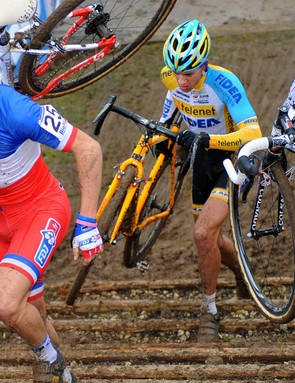 Cyclocross mixes multiple athletic endeavours, namely riding and running, with a strong emphasis on skillful bike handling
