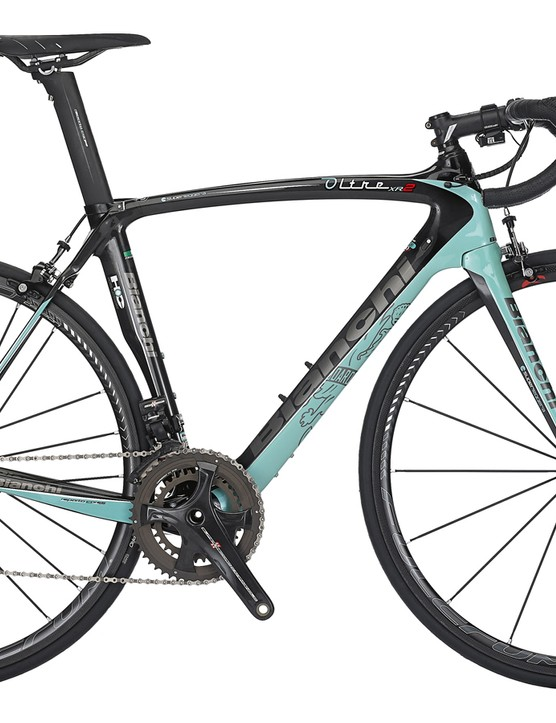 Bianchi's Oltre XR2 costs a cool £12,000 when kitted out in the Team Belkin spec