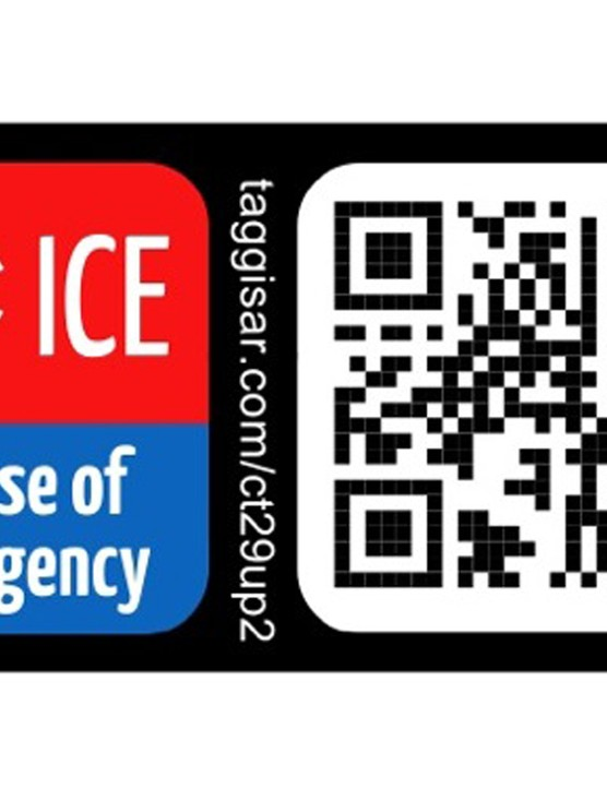 Taggisar ICE Stickers can be scanned to reveal emergency information