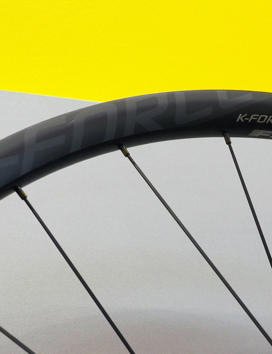 External nipples on FSA's new K-Force Light mountain bike wheels will make for much easier truing when required than ones hidden inside the rim