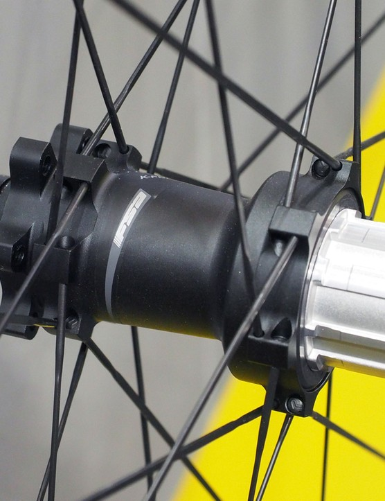 Hubs can be converted between the most common axle standards