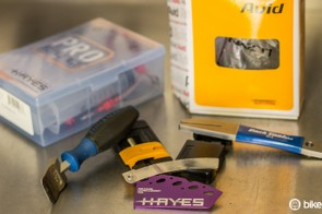A well-stocked workshop will have bleed kits, hose-cutting tools and even frame-facing tools; although most home mechanics can get by with much less