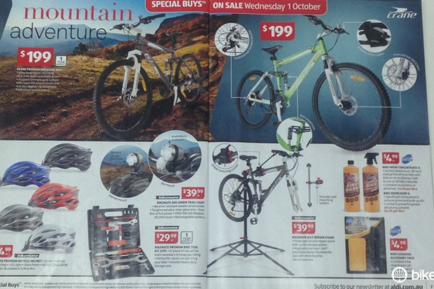 Your mountain bike adventure begins at Aldi. Scroll or click through to see more