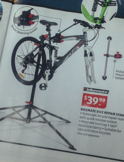 Despite the price, the Bikemate work stand doesn't look too bad