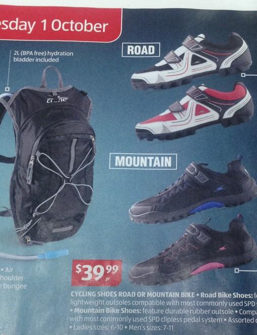 Those road shoes look like mountain bike shoes to us