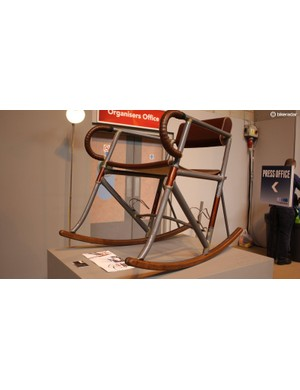 The Radonneur chair V2 from Andrew McDonald and Simon Taylor is constructed from Reynolds 631 tubing finished with leather from Brooks, yours for £5,800!