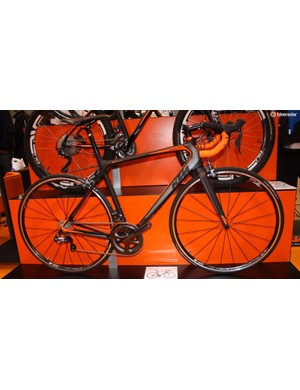 KTM's Revelator comes in the Austrian brand's usual black and orange styling along with Ultegra Di2 and is decent value at £2,499