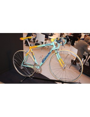 Bianchi had brought along this classic – and well worn – steel-tuber