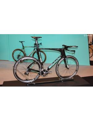 The Italian company was also showing off its latest Aquila TT bike