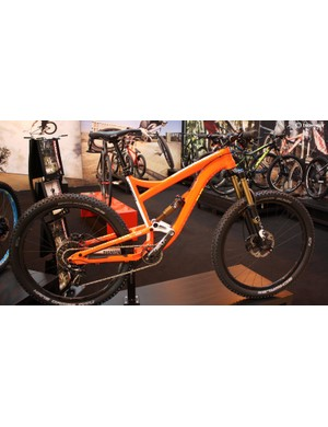 Diamondback's stand was full of interesting models like this ultra vibrant £4,300 Mission Pro