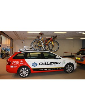 Fresh from the Tour of Britain, the Raleigh team car was parked up...