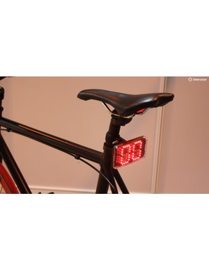 The Velocity Light is a rear light that reads from an ANT+ sensor to show other road users your speed. An accelerometer means that the numbers glow brighter when slowing. Yours for £59.99