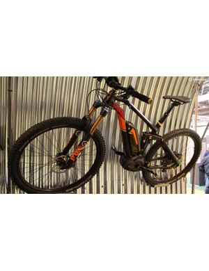 Also from Moustache is this superbly colour co-ordinated e-mountain bike