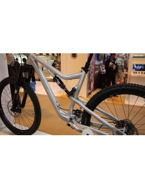German direct sale brand Rose had production versions of its latest mountain bikes on display, they'll be available from October