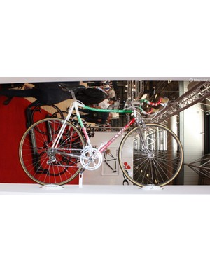 Colnago had a selection of unique bikes on its stand including this Super Krono SLX from the 1980s...