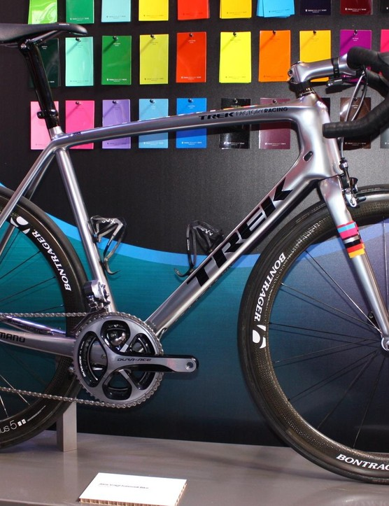 Voigt's final pro road bike certainly doesn't go unnoticed