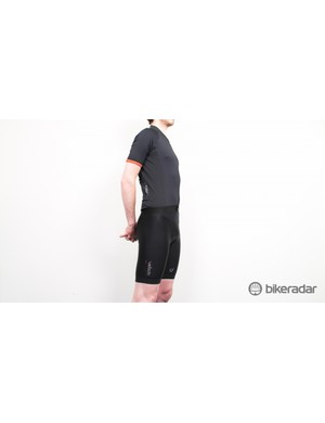 The 2014 Velocio Signature men's summer kit. The mesh panels on both sides of the jersey extend onto the back to keep you cool
